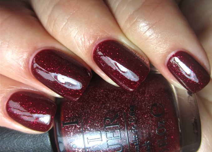 OPI Underneath the Mistletoe swatch 2