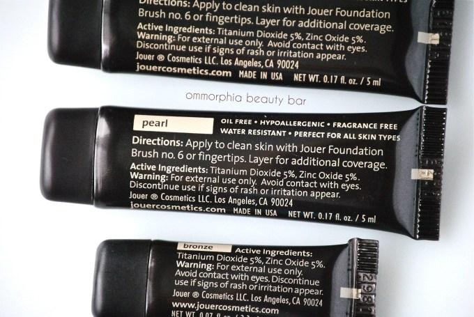 Jouer Luminizing Moisture Tint ingredients