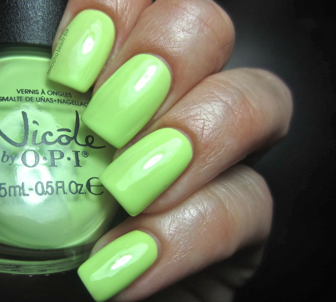 NOPI Lay it on the Lime swatch
