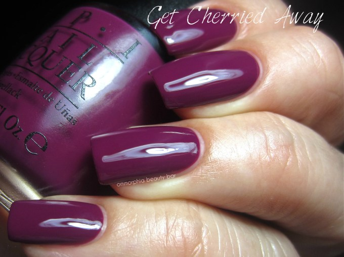 OPI Get Cherried Away swatch