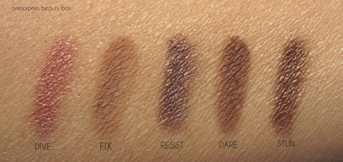 UD Naked On The Run eyeshadow swatches