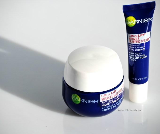 Garnier Ultra-Lift Miracle Sleeping Cream Duo opener