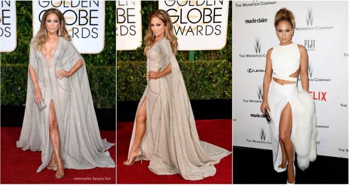 Golden Globes 2015 Jennifer Lopez triptych