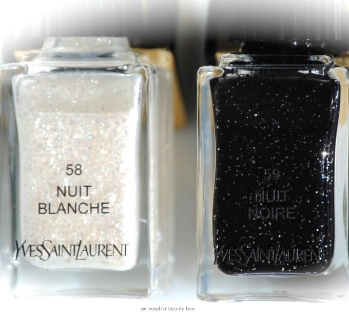 YSL Nuit Blanche & Nuit Noire macro