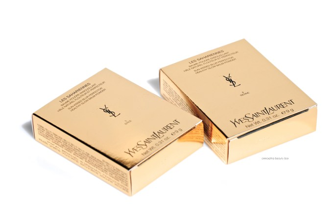 YSL Les Sahariennes packaging