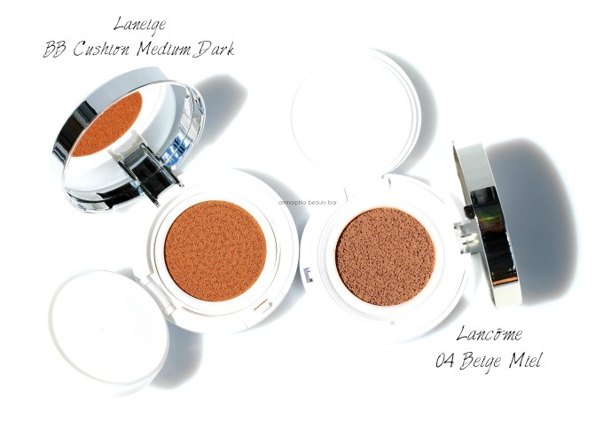 Lancome vs Laneige Miracle Cushion
