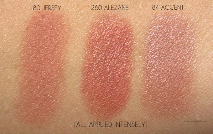 CHANEL Alezane, Jersey & Accent blush swatches
