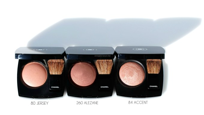 CHANEL Alezane vs Jersey & Accent blushes