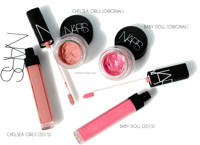 NARS Chelsea Girls & Baby Doll lipgloss comparisons