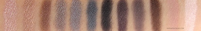UD Naked Smoky swatches 2