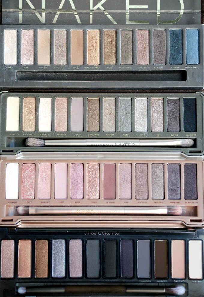 UD Naked Smoky with comparison palettes 4