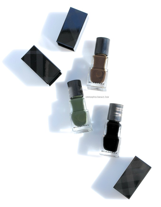 Burberry Fall polishes open