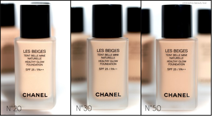 CHANEL Les Beiges Foundations trio