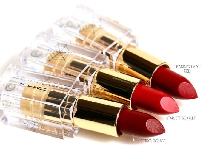 MAC x Charlotte Olympia lipsticks macro