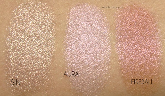 UD Afterglow Highlighter swatches