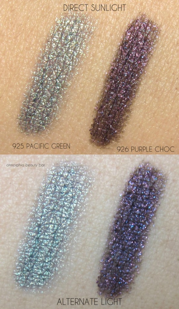 CHANEL Pacific Green & Purple Choc Eyeliner swatches