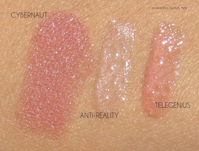 MAC Future Collection lip trio swatches