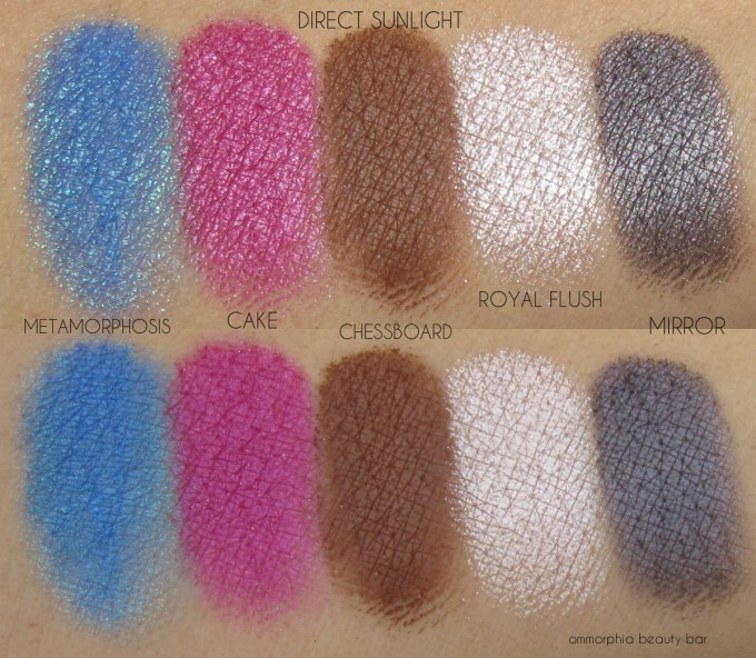 UD Alice Through the Looking Glass row 4 swatches