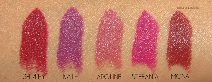 NARS Chic Out Audacious Lipstick swatches