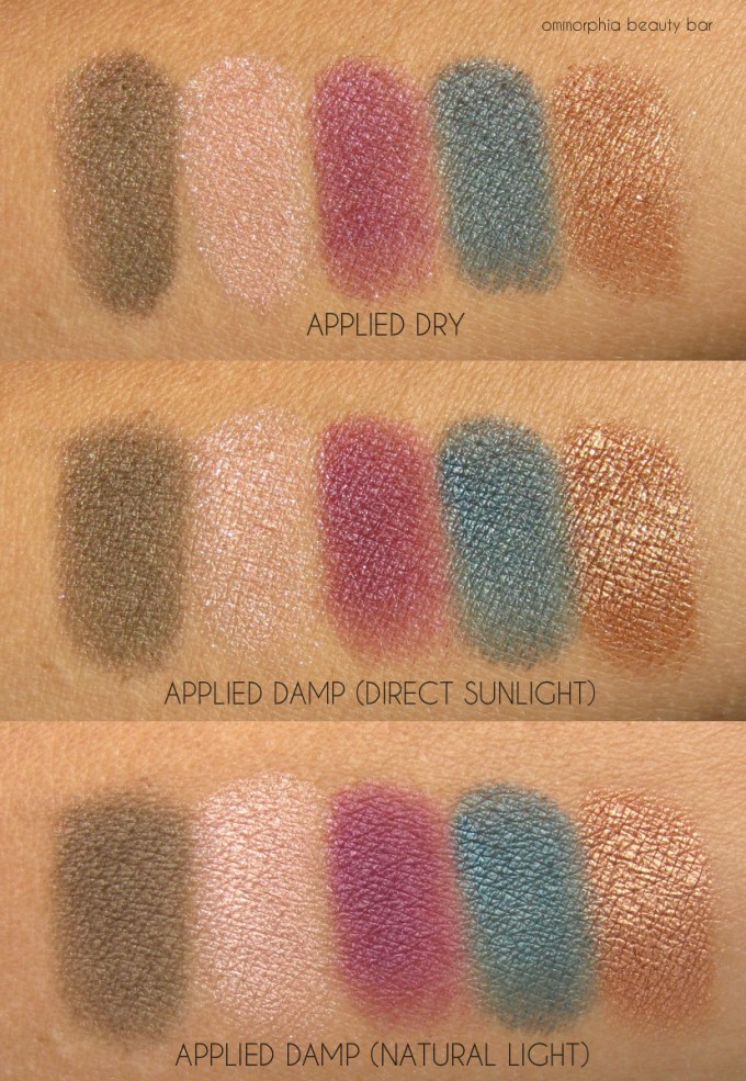 YSL Scandal Couture Palette swatches