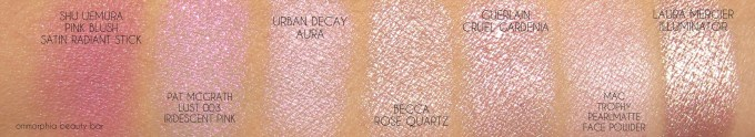becca-rose-quartz-comparison-swatches