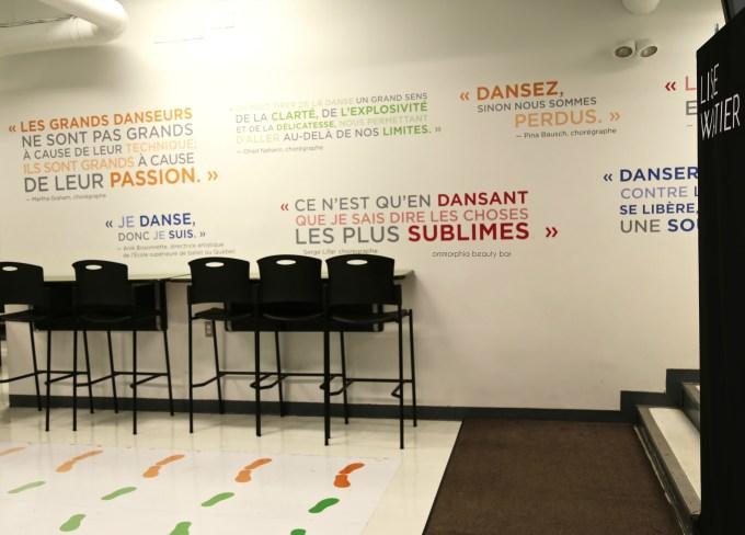 Lise Watier x Grands Ballets inspirational mural