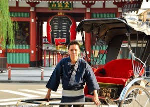 Tukang becak di Jepang