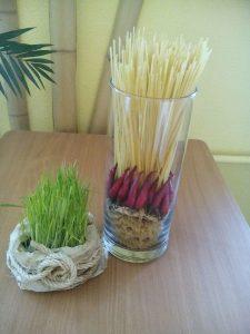 весна трава макароны