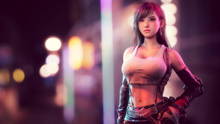 final-fantasy-vii-tifa-lockhart-3d-animation-big-boobs-3d-hd-wallpaper-preview