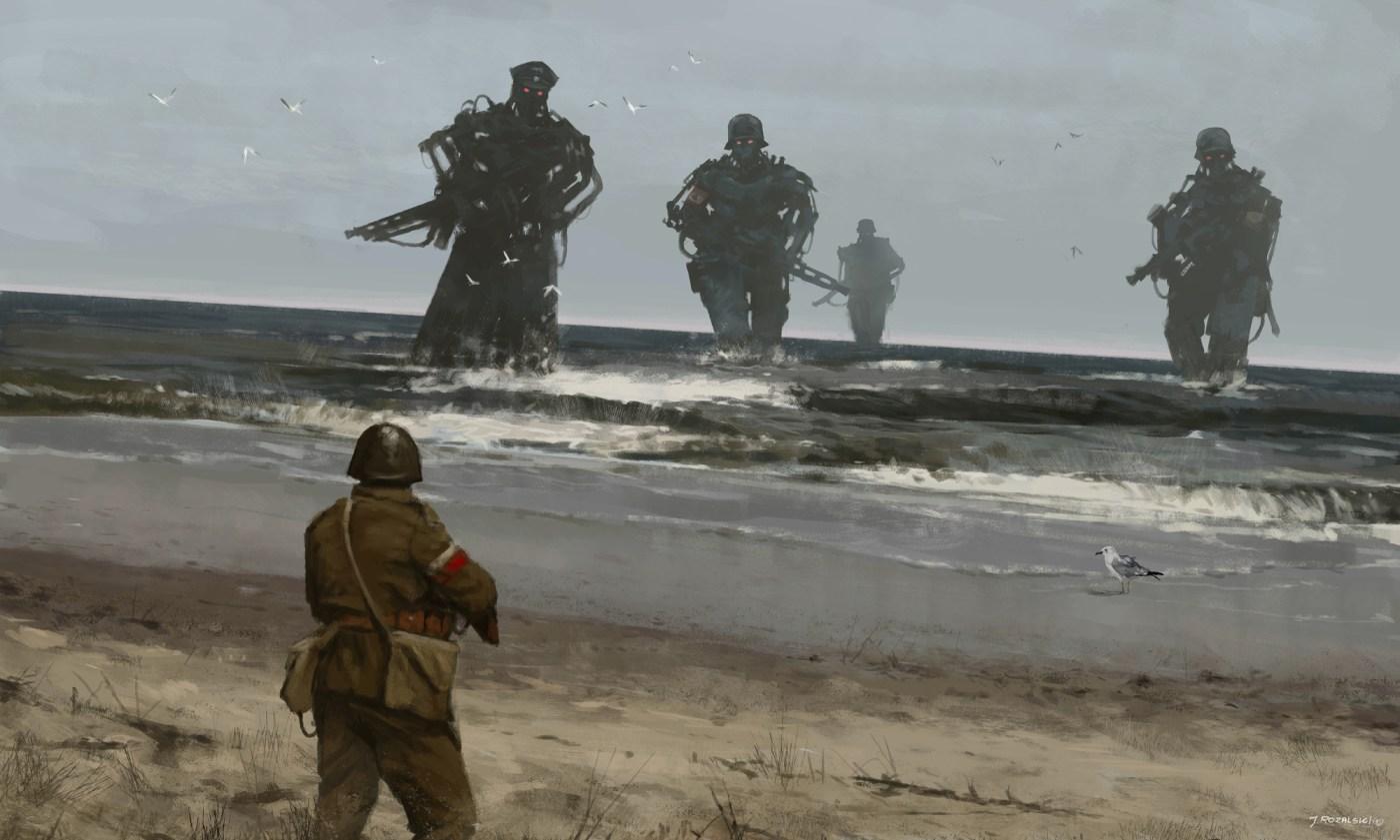 Westerplatte 1939 Digital painting (2015)