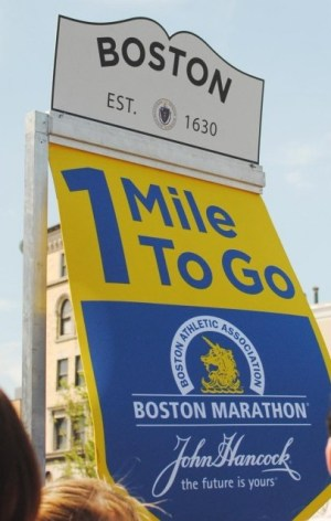 2012 boston marathon,1 mile