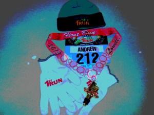 ready set 1st run,finishers medal
