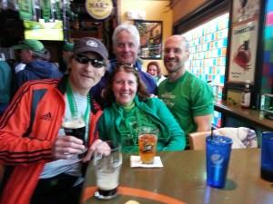 Having a Guinness, Newbedford Half Marathon
