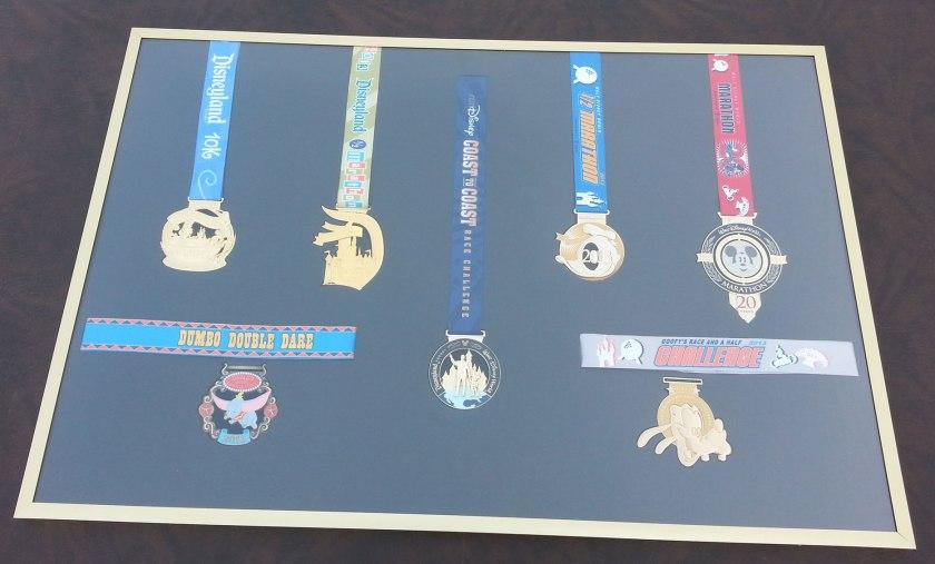 rundisney, disney, coast to coast challenge, medal display, race series medals