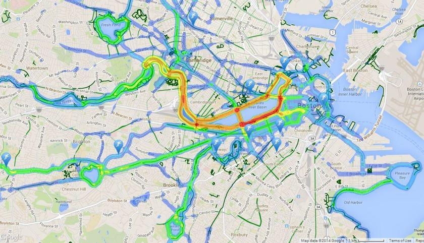 boston running traffuc, running