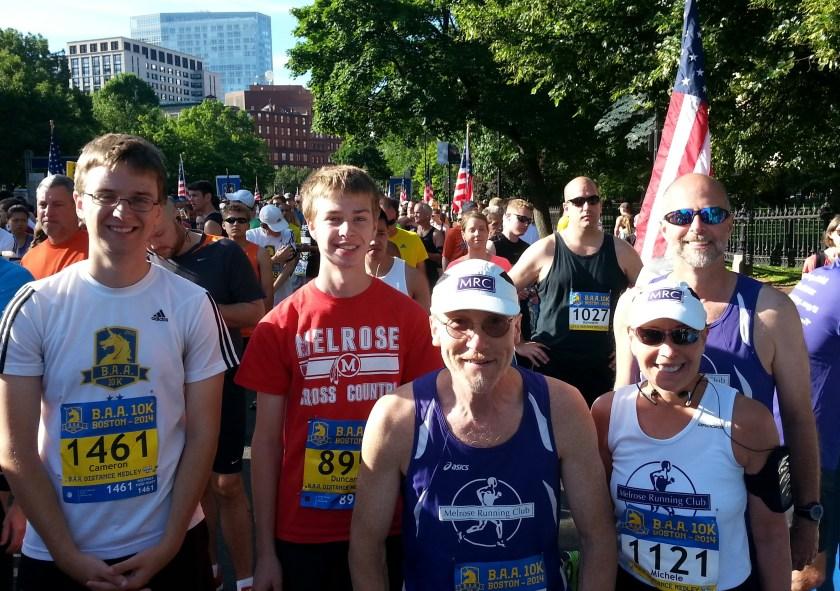 melrose,Boston,baa 10k, two races two states
