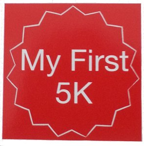 First 5k, my first 5k, bib sticker, stickers