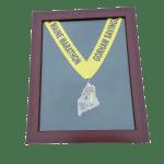Maine Marathon, medals, display