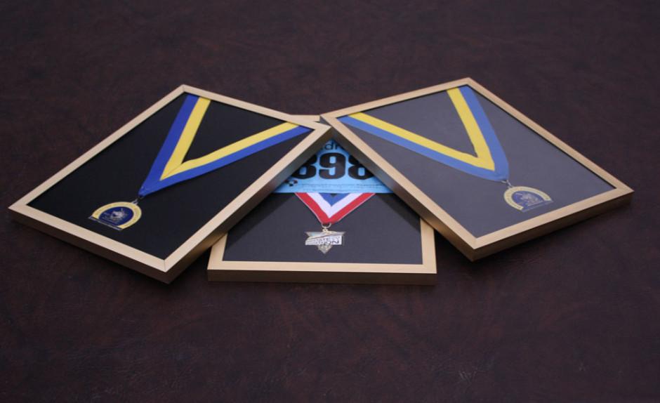 made to order frame, running medal frames, custom cuts