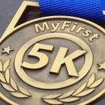 your #first5k medal, running medal, my first 5k medal