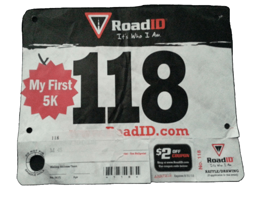 My First 5K 2018 Bib Sticker