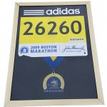 Boston Marathon finishers medal, display frame