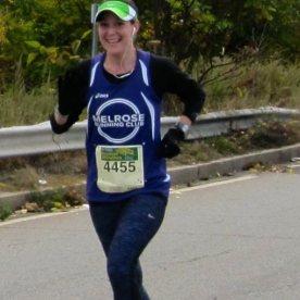Lauren running the Half