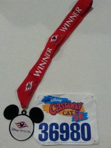 castaway cay 5K, 5k medal