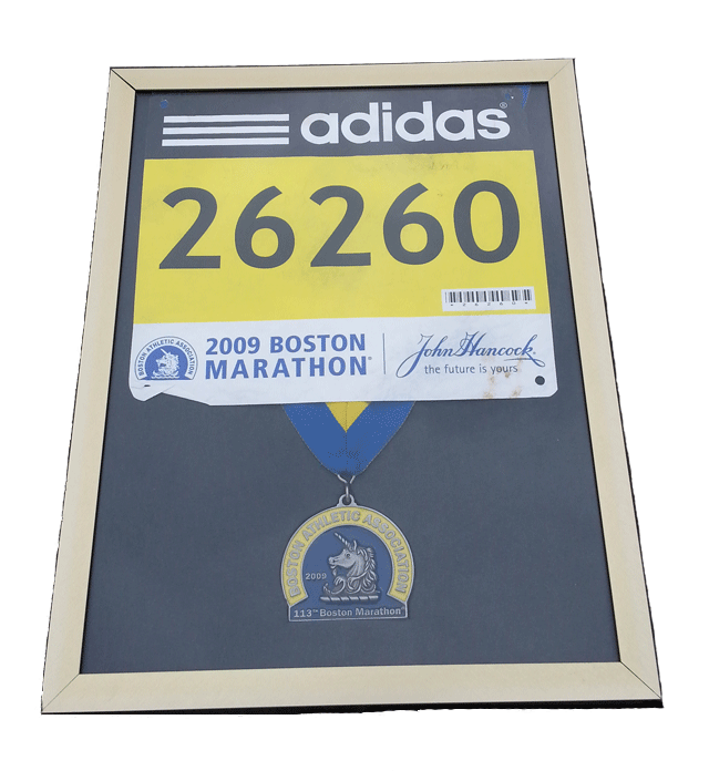 Boston Marathon, medal display