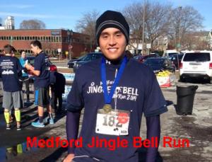 Medford jingle bell run 5K, kids races