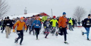Brooksby Snowshoe classic, snowshoe race
