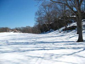 Mt Hood golf course, snowshoe hiking