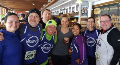 Melrose Running Club, april Fool's 4 miler
