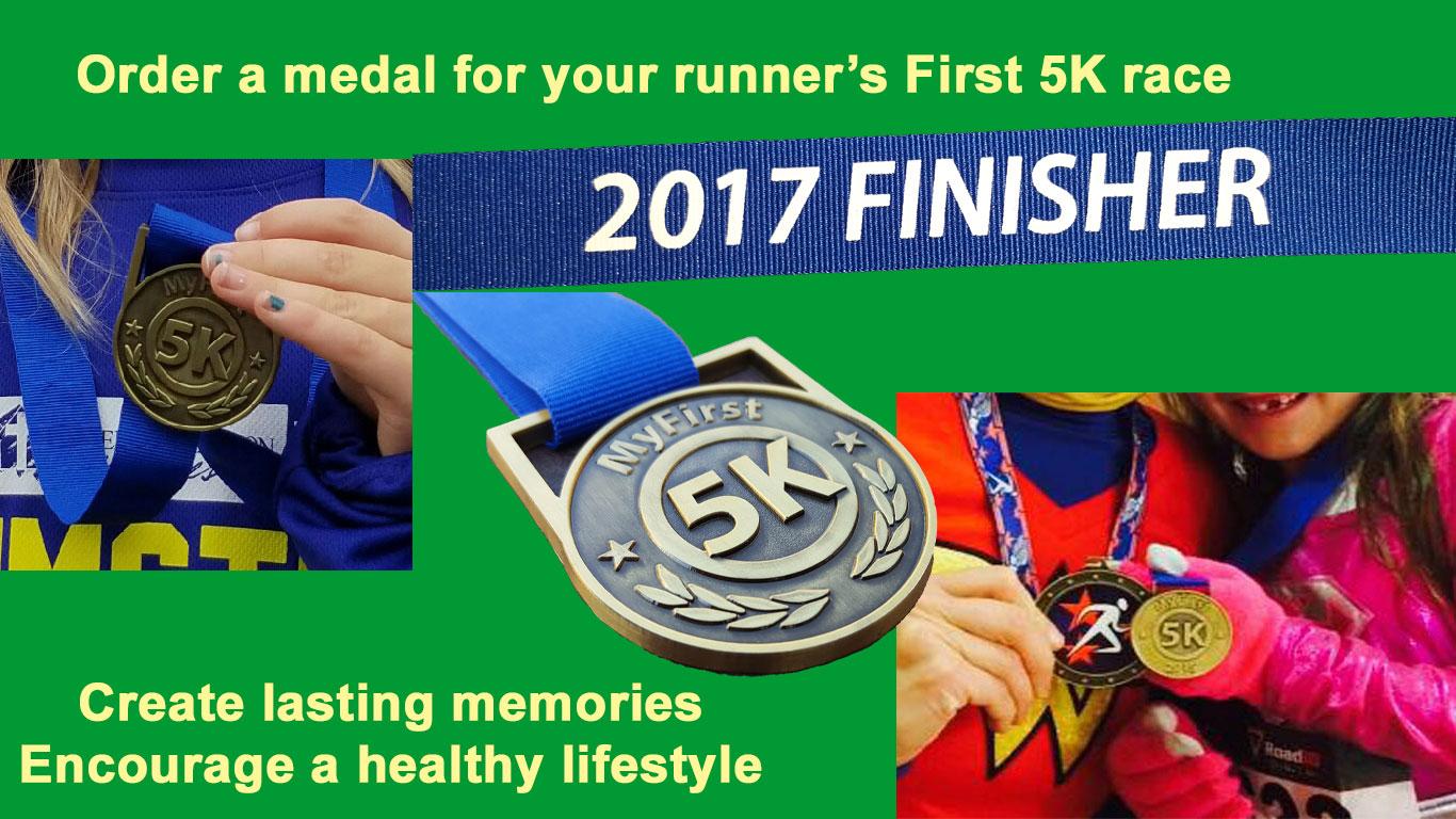 first running medal, 5k running medals, runners medal